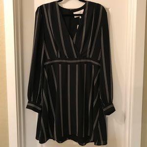 NWT Charles Henry - Black Long Sleeve Dress